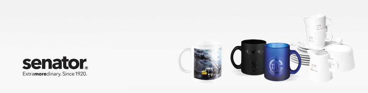 senator Tassen und Kaffeebecher Werbeartikel