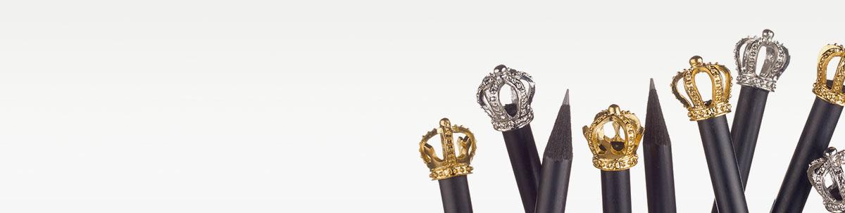 Kronenbleistifte für Ihre Majestät - den Kunden