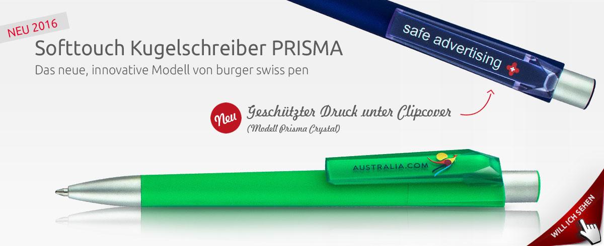 burger swiss pen PRISMA - Neuer Werbekugelschreiber 2016
