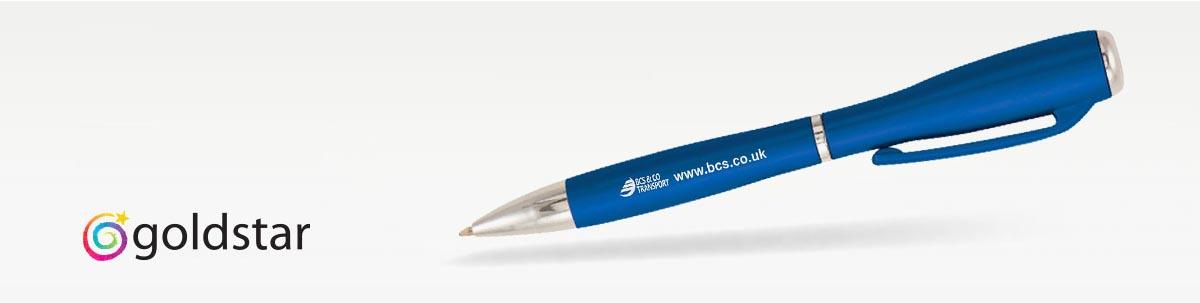 Goldstar J Brown Kugelschreiber mit Taschenlampe