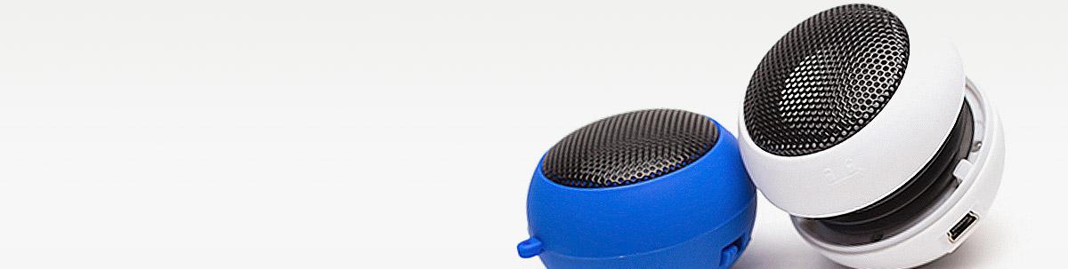 Mobile Lautsprecher-Boxen als Werbeartikel