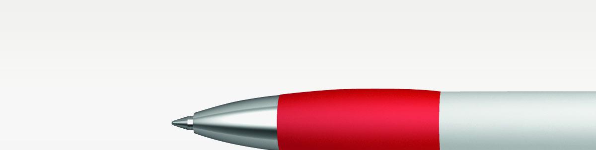 Kugelschreiber mit gummierter Griffzone