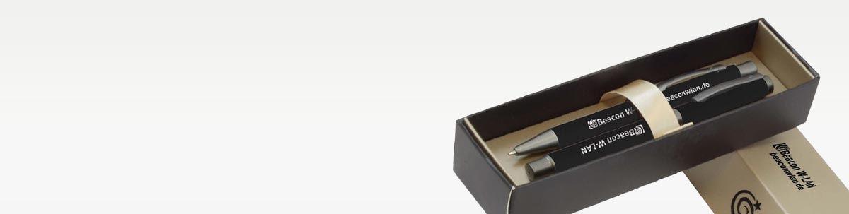 Kugelschreiber Set als Werbegeschenk bedrucken