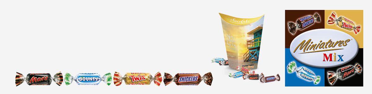 Miniatures Mix Schokolade als Werbeartikel