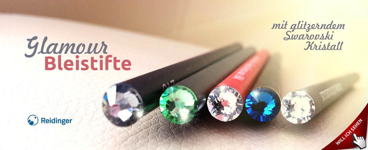 Glitzernde Kristall-Bleistifte als Werbeartikel bedrucken