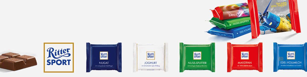 Ritter Sport Schokolade als Werbemittel