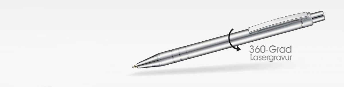 360°-Rundum Lasergravur Kugelschreiber