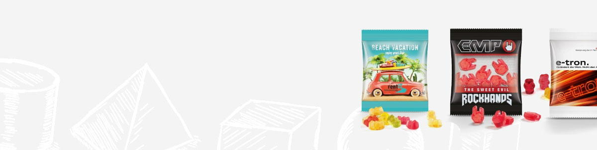Mini-Tüten Werbeartikel mit Snacks