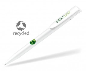 UMA HAPPY RECY 0-0037 Recycled Werbekugelschreiber weiss