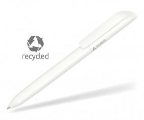 UMA VANE RECY 0-0183 Recycling Werbekugelschreiber weiss