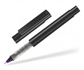 UMA RECYCLED PET PEN Roller 02252 R modularer Tintenroller schwarz dunkelviolett