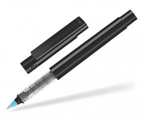 UMA RECYCLED PET PEN Roller 02252 R modularer Tintenroller schwarz hellblau