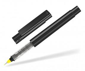 UMA RECYCLED PET PEN FL 02254 modularer Fineliner schwarz gelb