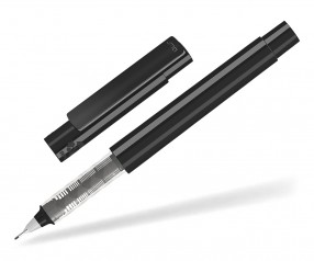 UMA RECYCLED PET PEN FL 02254 modularer Fineliner schwarz grau