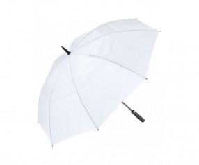 FARE Golf- und Gästeschirm AC Fibermatic XL Vent 2339 Regenschirm mit Druck weiß