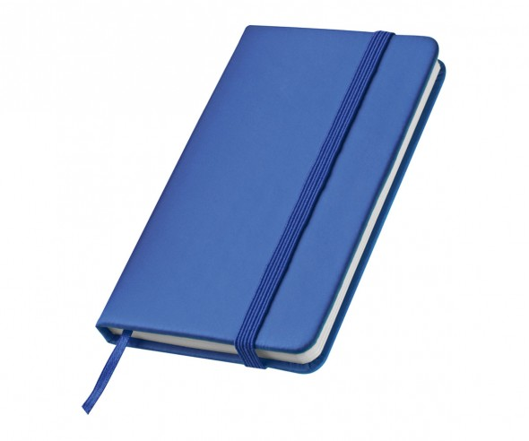 Notizbuch Werbemittel DIN A6 STANDARD UNI blau