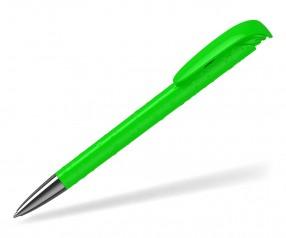 Klio Kugelschreiber JONA structure high gloss Mn TI neon grün mit Tropfenstruktur