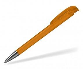 Klio Kugelschreiber JONA structure transparent Mn OTR orange mit Tropfenstruktur