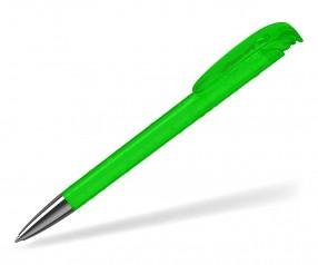 Klio Kugelschreiber JONA structure transparent Mn TITR neon grün mit Tropfenstruktur