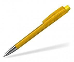 Klio ZENO Kugelschreiber TRANSPARENT HIGH GLOSS Mn STR R gelb hellgelb
