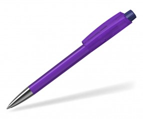 Klio ZENO Kugelschreiber TRANSPARENT HIGH GLOSS Mn VTR1 D violett dunkelviolett