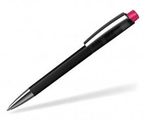 Klio ZENO Kugelschreiber SOFTFROST TRANSPARENT MMn ATIST THT schwarz neon pink