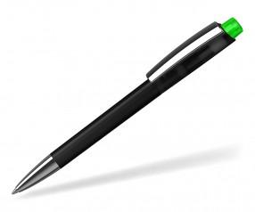 Klio ZENO Kugelschreiber SOFTFROST TRANSPARENT MMn ATIST TITR schwarz neon grün