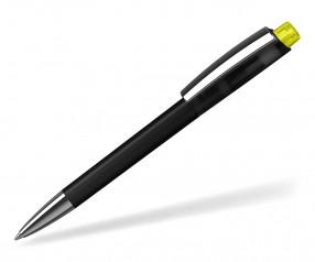 Klio ZENO Kugelschreiber SOFTFROST TRANSPARENT MMn ATIST TRTR schwarz neon gelb