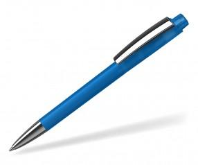 Klio ZENO Kugelschreiber SOFTFROST TRANSPARENT MMn MTIST blau