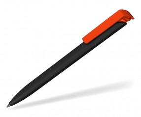 Klio Werbekugelschreiber TRIAS softtouch high gloss AST TW schwarz neon orange