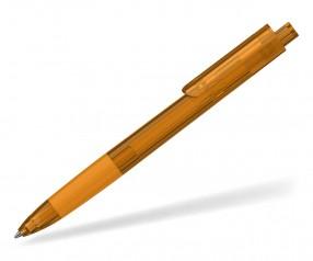 Klio TECTO transparent dreikantiger Kuli mit Griffzone OTR orange