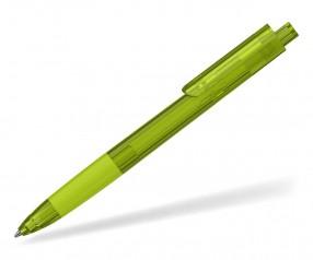 Klio TECTO transparent dreikantiger Kuli mit Griffzone PTR hellgrün