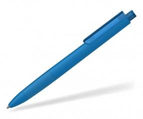 Klio TECTO softtouch transparent dreikantiger Kuli mit Griffzone FST MTR blau