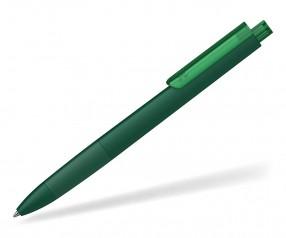Klio TECTO softtouch transparent dreikantiger Kuli mit Griffzone ISI ITR dunkelgrün