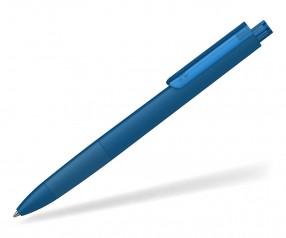 Klio TECTO softtouch transparent dreikantiger Kuli mit Griffzone MST MTR dunkelblau