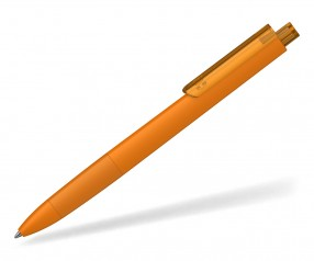 Klio TECTO softtouch transparent dreikantiger Kuli mit Griffzone TLST OTR orange