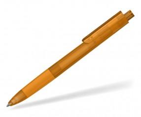 Klio TECTO softfrost transparent dreikantiger Kuli mit Griffzone OTIST OTR orange