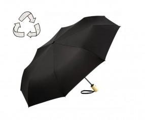 FARE ÖkoBrella Mini Taschenschirm AOC 5429 nachhaltiger Regenschirm schwarz