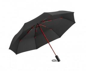 FARE Colorline Oversize Taschenschirm AOC 5644 Regenschirm bedrucken lassen schwarz rot