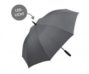 FARE Midsize Stockschirm Skylight AC 7749 Regenschirm mit LED Licht grau