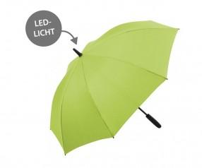 FARE Midsize Stockschirm Skylight AC 7749 Regenschirm mit LED Licht limette