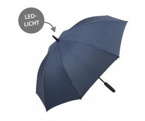 FARE Midsize Stockschirm Skylight AC 7749 Regenschirm mit LED Licht marine