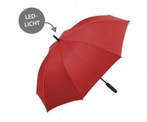 FARE Midsize Stockschirm Skylight AC 7749 Regenschirm mit LED Licht rot