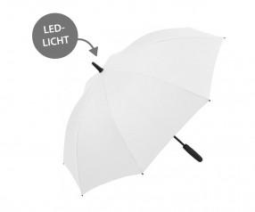 FARE Midsize Stockschirm Skylight AC 7749 Regenschirm mit LED Licht weiß