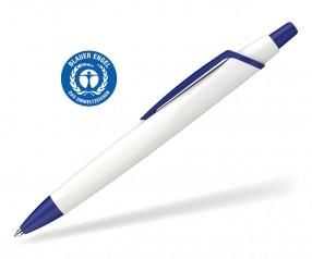 Schneider Kugelschreiber RECO 931798 blauer Engel Öko weiss-blau