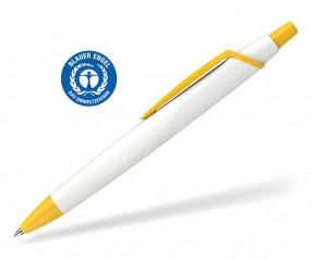 Schneider Kugelschreiber RECO 931798 blauer Engel Öko weiss-gelb