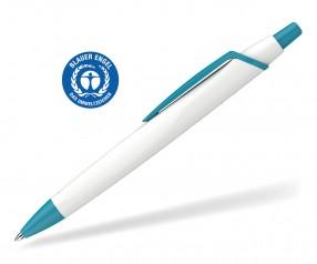 Schneider Kugelschreiber RECO 931798 blauer Engel Öko weiss-türkis