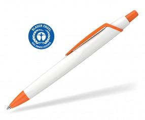 Schneider Kugelschreiber RECO 931799 blauer Engel Öko weiss-orange
