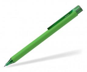 Schneider Kugelschreiber ESSENTIAL Soft Touch grün mit Clip und Spitze transparent