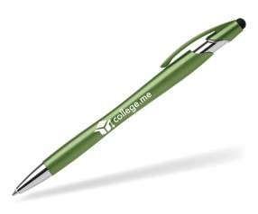 Goldstar La Jolla Iridescent AFU Kugelschreiber hellgrün (PMS 558C) inklusive Druck